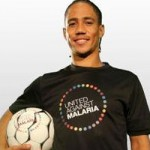 Footballers give malaria the boot