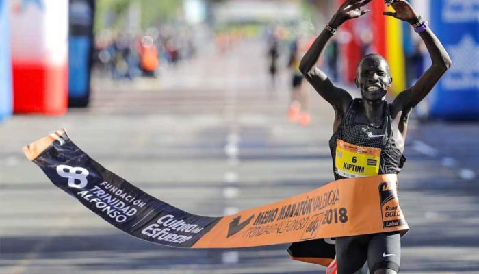 New World Half Marathon record for Kiptum