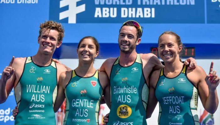 aussies win abu dhabi mixed relay