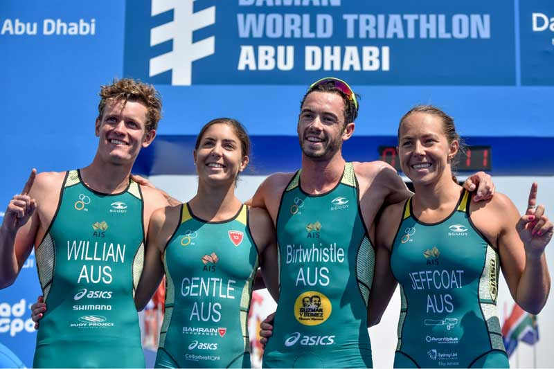 aussies win abu dhabi mixed relay